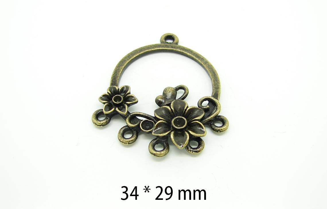 connecteur-bronze-fleuri
