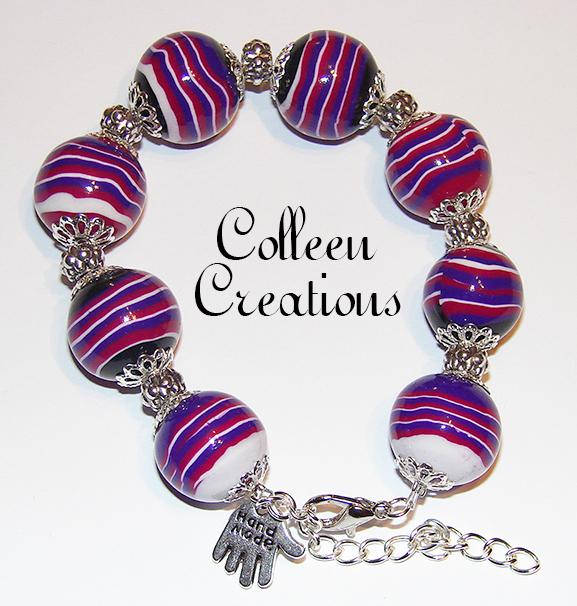 bracelet-rayures-violet-rose-noir
