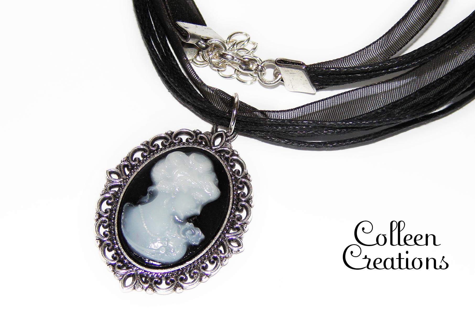 came-noir-collier-coton-ruban