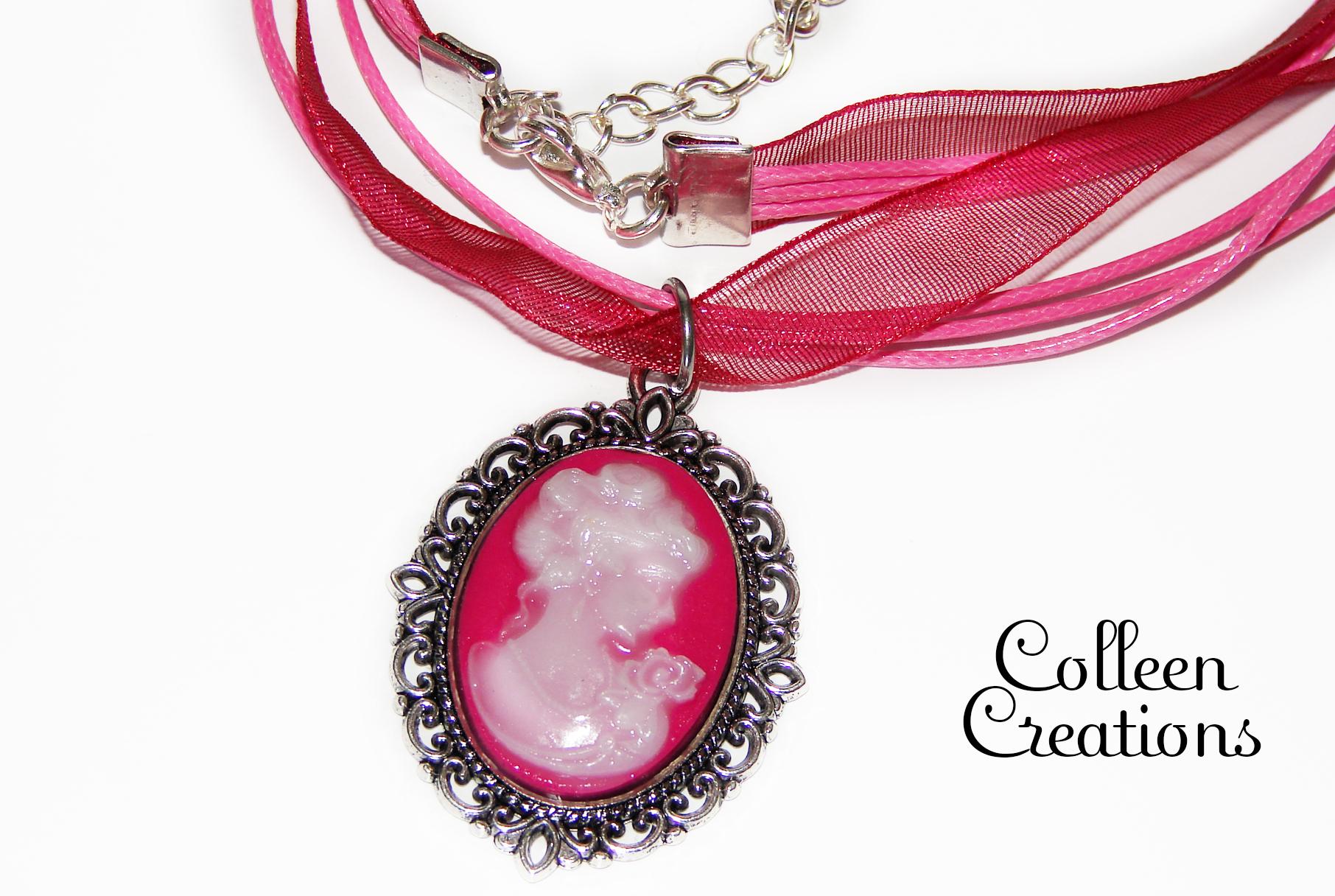 came-rose-collier-coton-ruban
