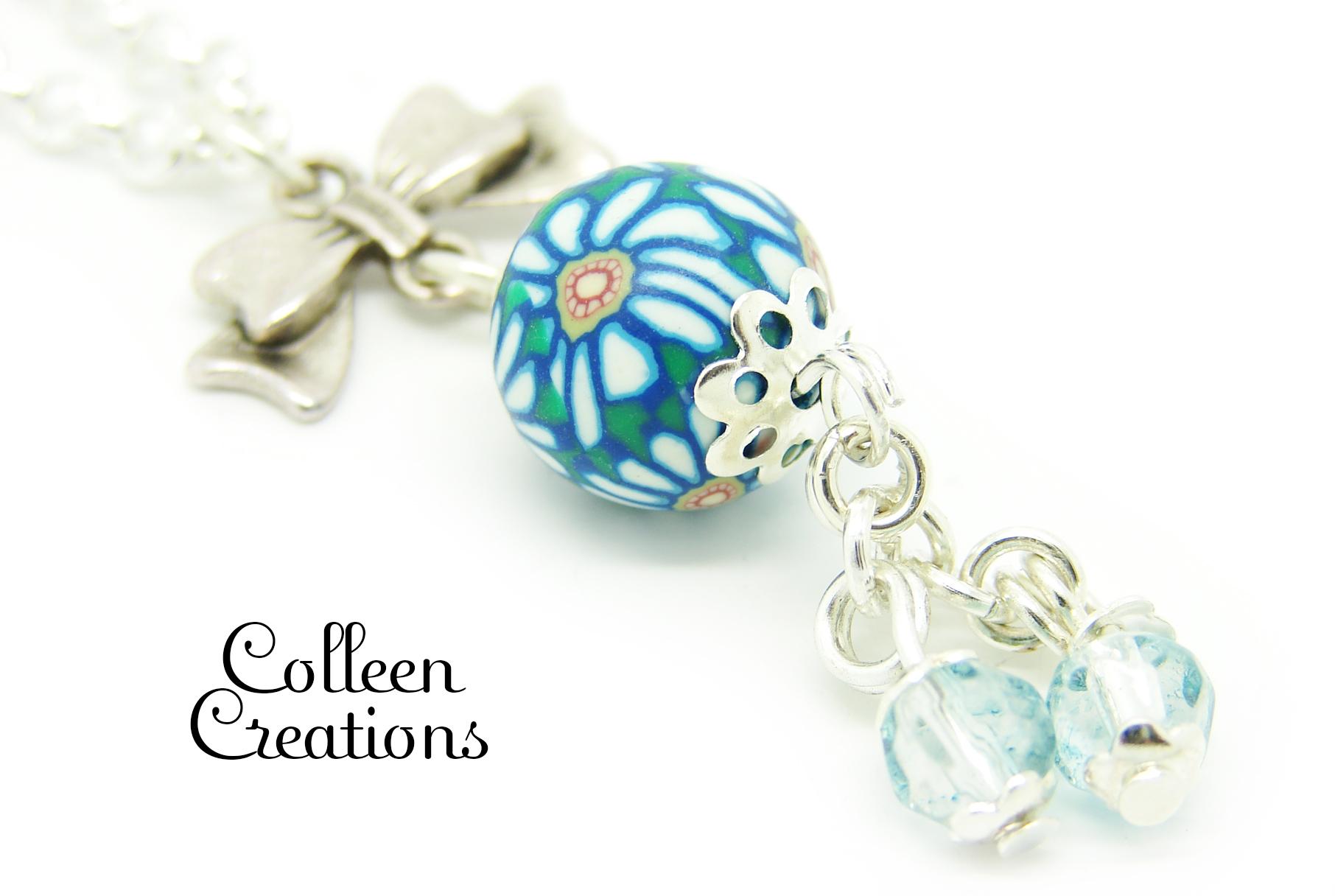 collier-parure-perle-fimo-bleue