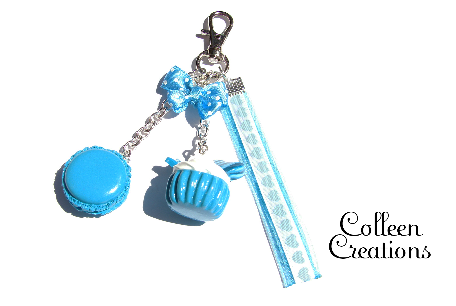 porte-cles-cupcake-turquoise