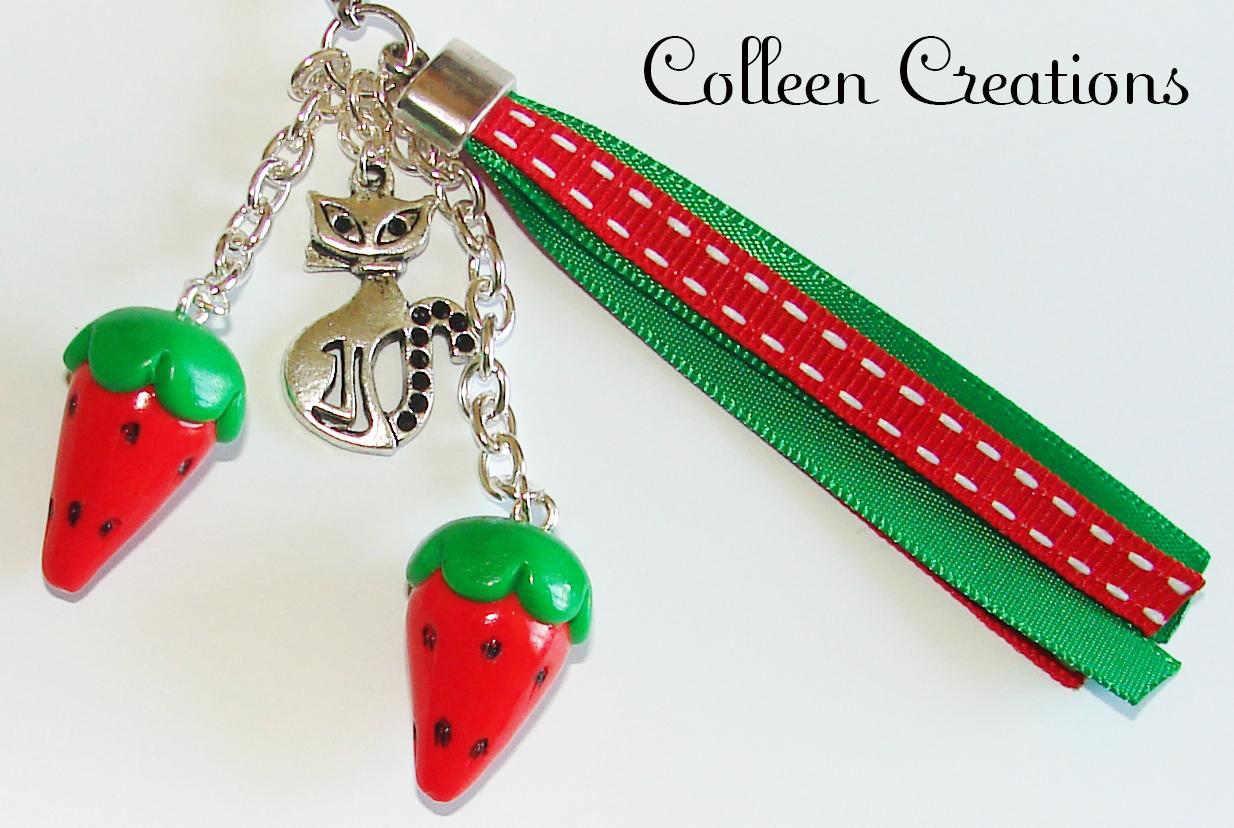 porte-cles-fraises-chat-rouge-vert2