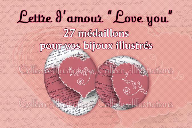 """Lettre d'amour """"Love you"""""""