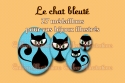 Le chat bleuté