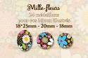 Mille-fleurs 18x25mm 20mm 18mm